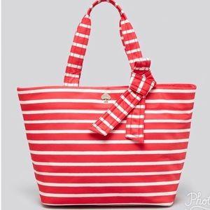 Kate Spade NWT Maryanne Flatiron Nylon Striped Bag